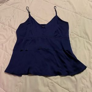 Navy Blue Satin Camisole w Layers